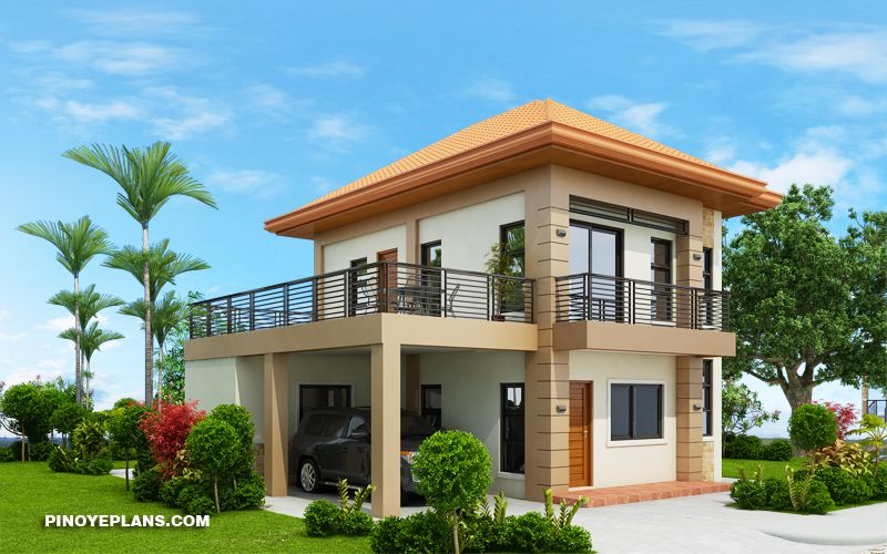Havana Two Storey House With Spacious Terrace Pinoy Eplans One Storey House Two Story House Design Two Storey House