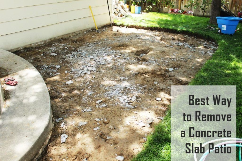 Concrete Slabs On A Patio