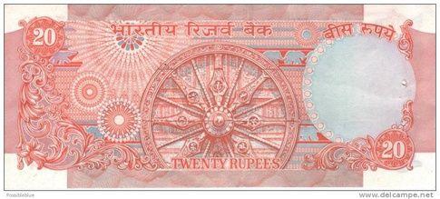 20 rupee note -Indian art - Konark Wheel | Indian art