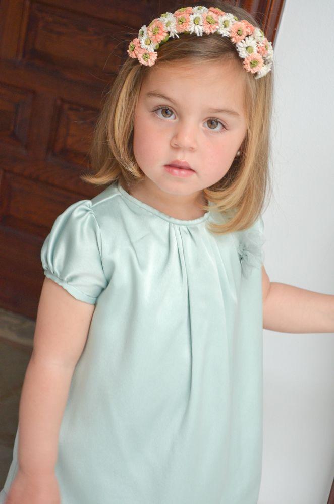 Vestido en piel de ángel niña, Micaela Micaelo primavera-verano 2014