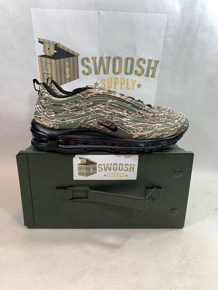 promo code a7027 8fe4c Nike Air Max 97 Camo USA QS size 8 Olive Black Country Camo AJ2614-205