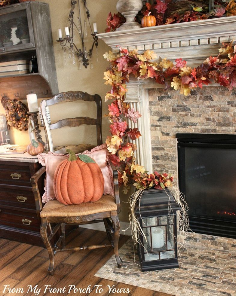 Living Room With Fire Place Interior Design