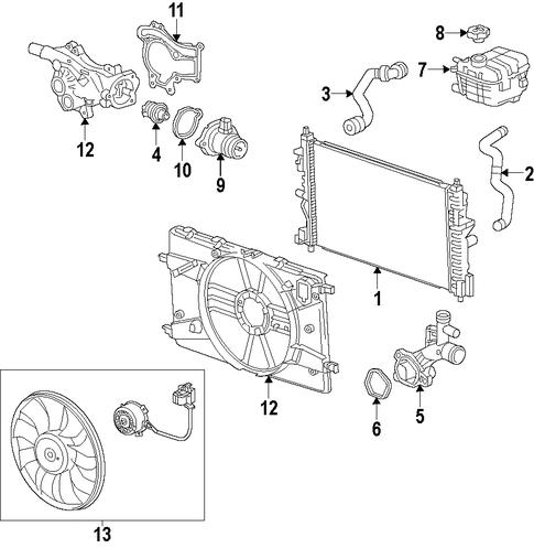 Cooling System/Radiator & Components for 2012 Chevrolet Cruze #2 | Cruze,  Chevrolet cruze, Chevrolet | Chevrolet Engine Cooling Diagram |  | Pinterest
