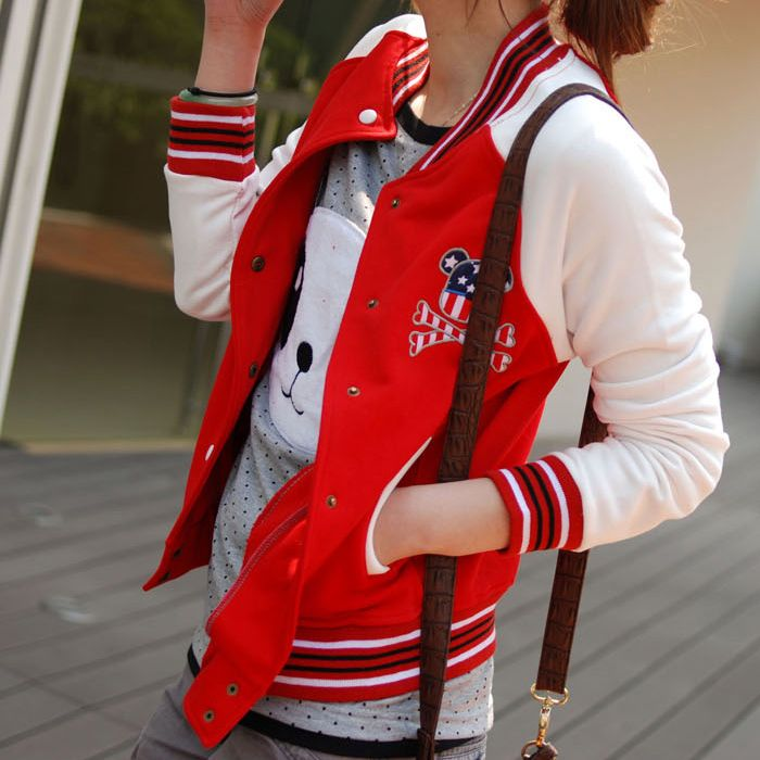 Autumn/Spring Girl's Red Varsity Jacket Sale Price $73 (To buy ...