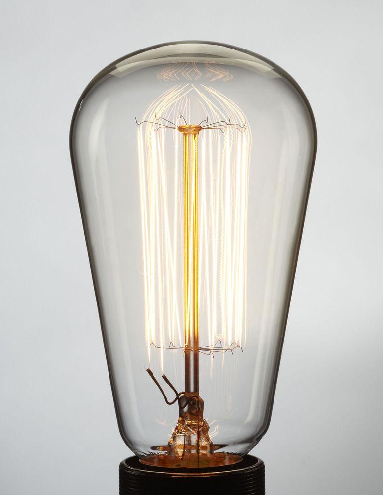 PEAR SHAPE   squirrel cage filament lightbulb   40W & 60W