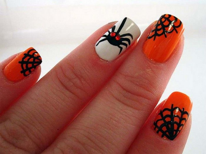 Halloween Nail Art Designs Simple To Bend Light