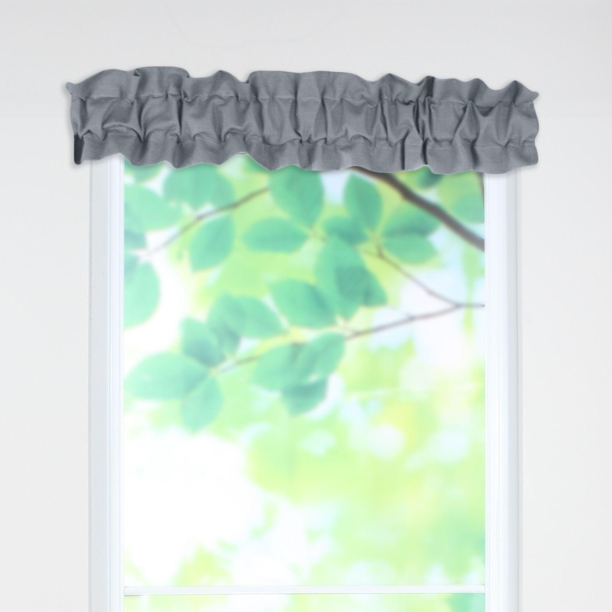 Circa Solid Sleeve Topper 52 Curtain Valance Valance Curtains