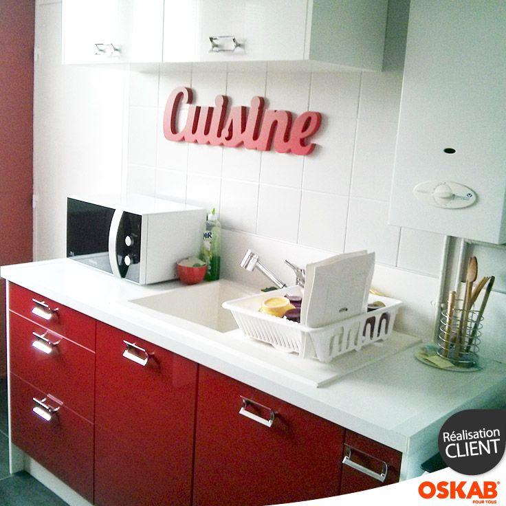 Florian L a choisi Oskab ! Découvrez sa cuisine parallèle rouge et - logiciel de plan de maison 3d gratuit