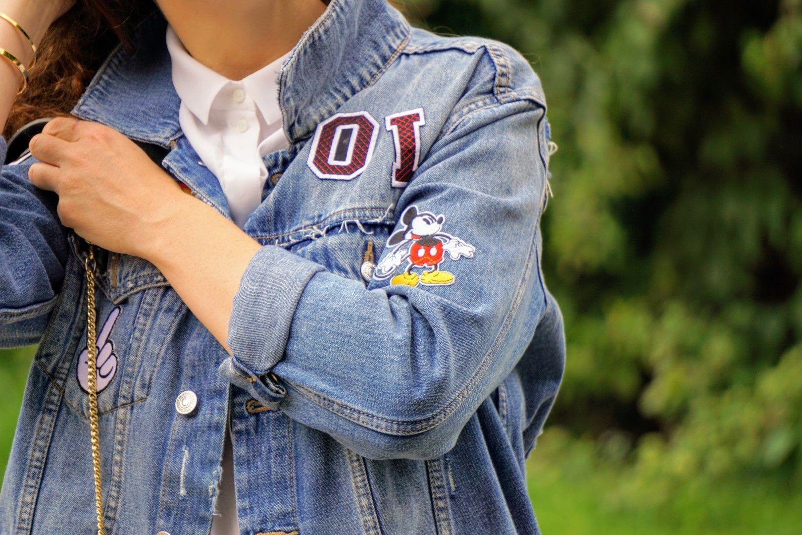 Jeansjacke mit patches diy