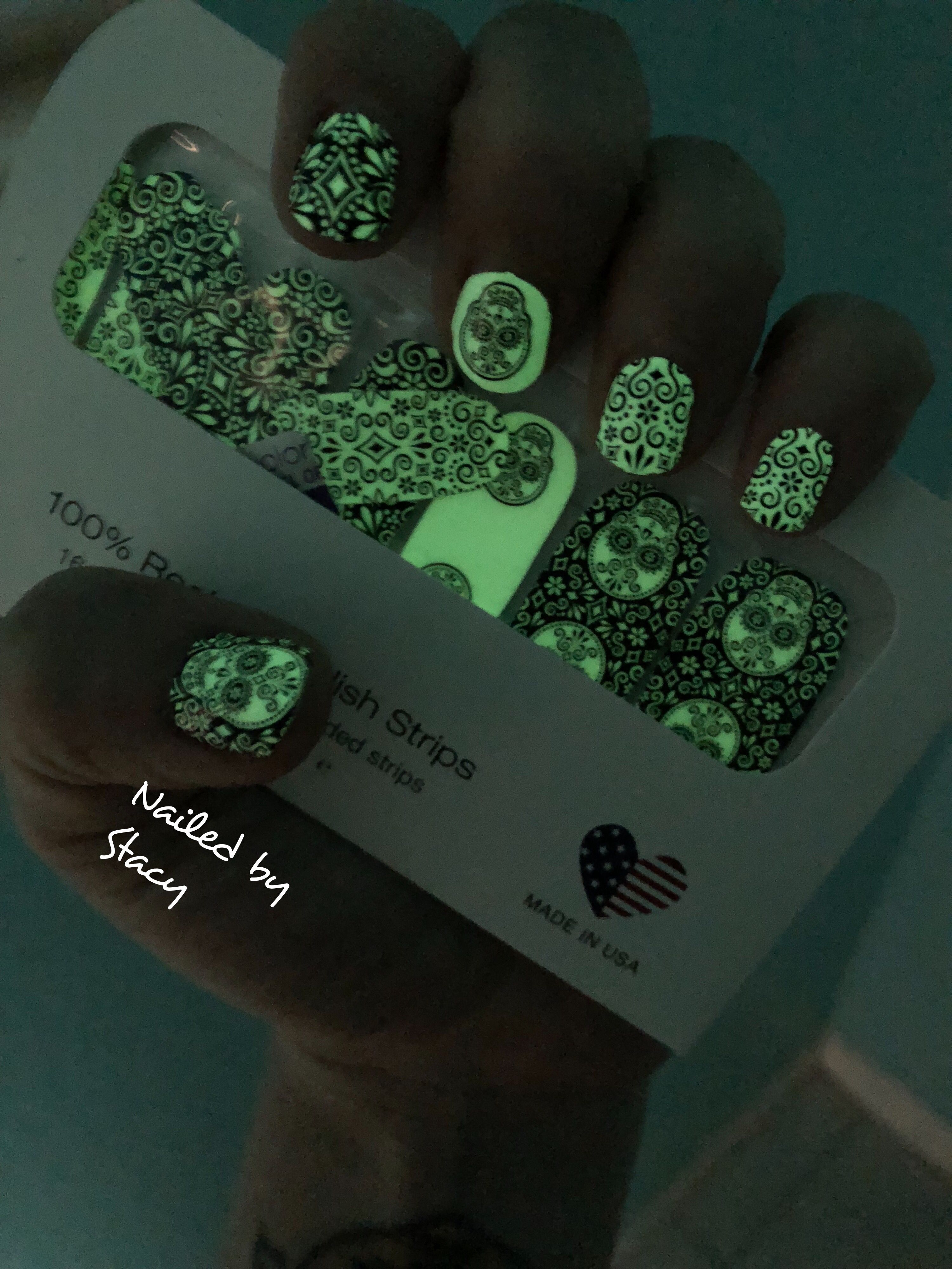 Abra-Cadaver glow in the dark | Stripped nails, Color ...