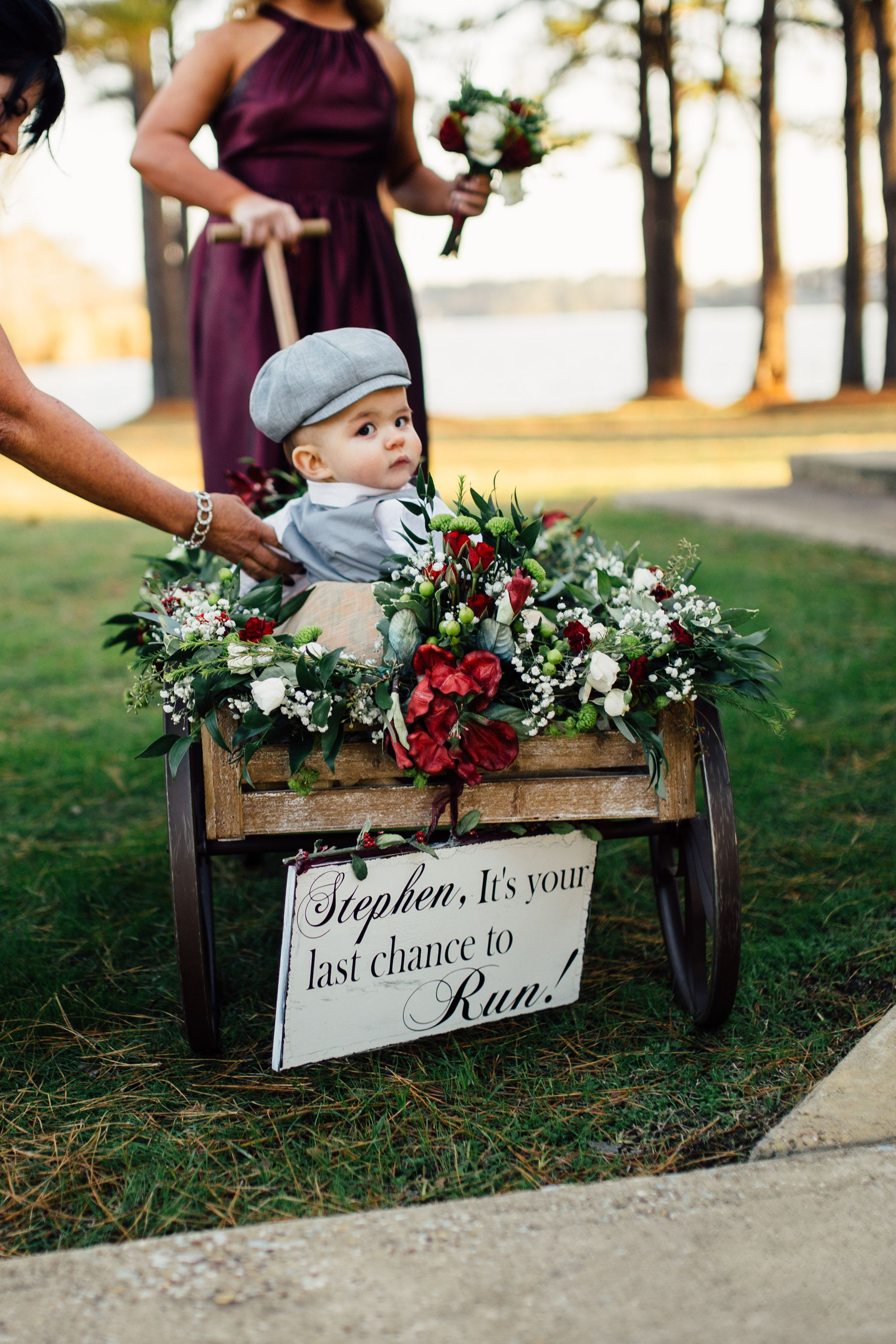 Ring bearer wagon wedding Pinterest Ring bearer wagon Ring