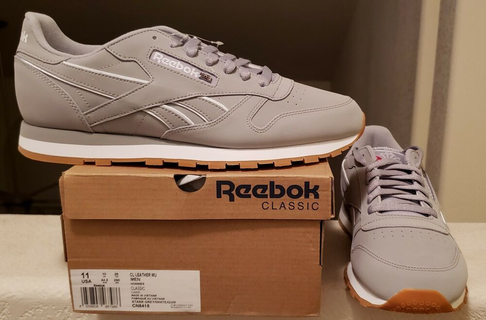 Reebok Classic Leather 101 White Grey Red Mens Shoes Fashion Sneakers Sizes