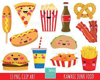 50 Sale Candy Clipart Bubble Gum Clipart Kawaii Candies Etsy Food Clipart Kawaii Clipart Junk Food