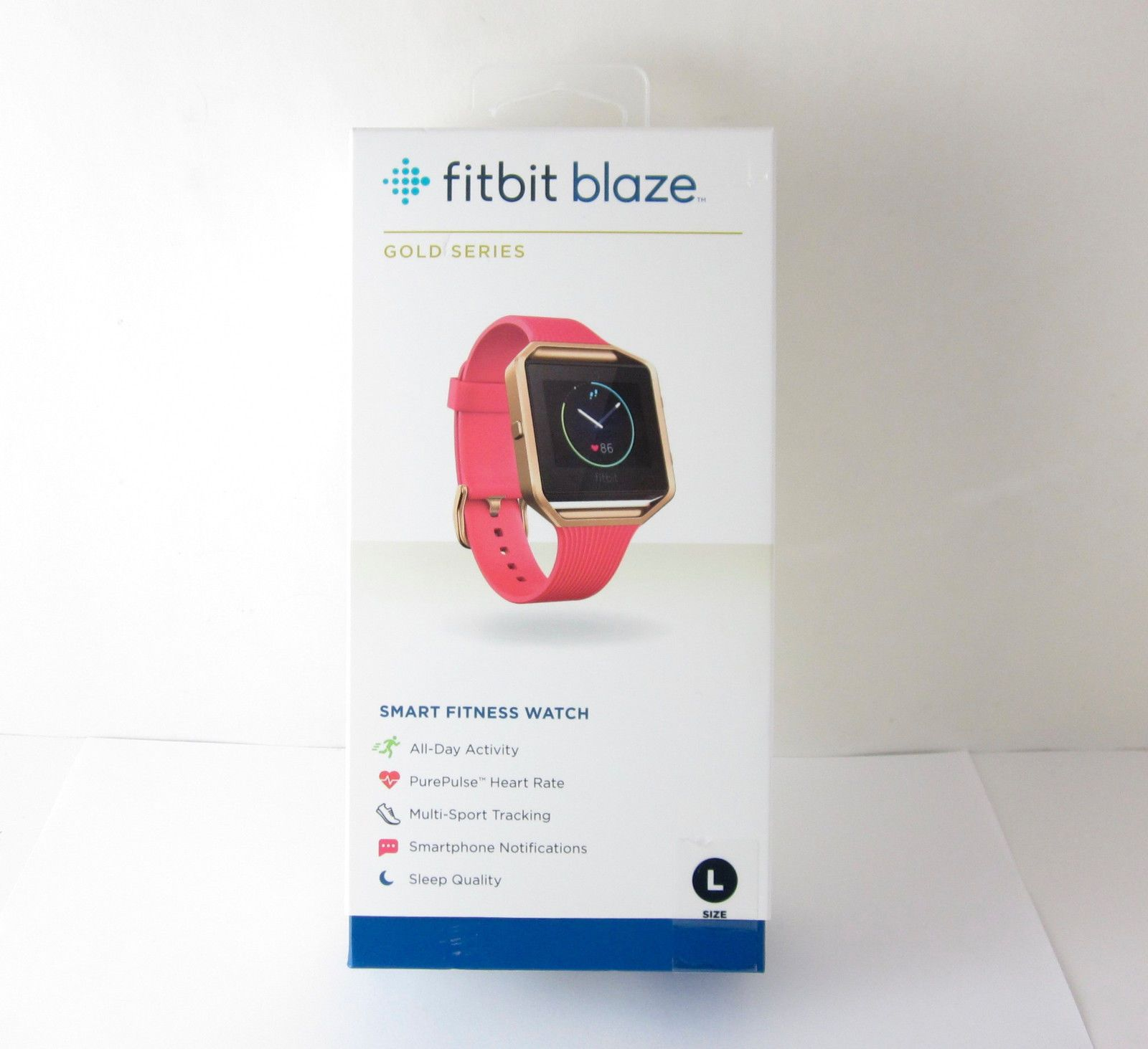 FITBIT BLAZE PINK BAND LARGEAWESOME FITNESS TRACKERNEW IN BOXFAST SHIPPER