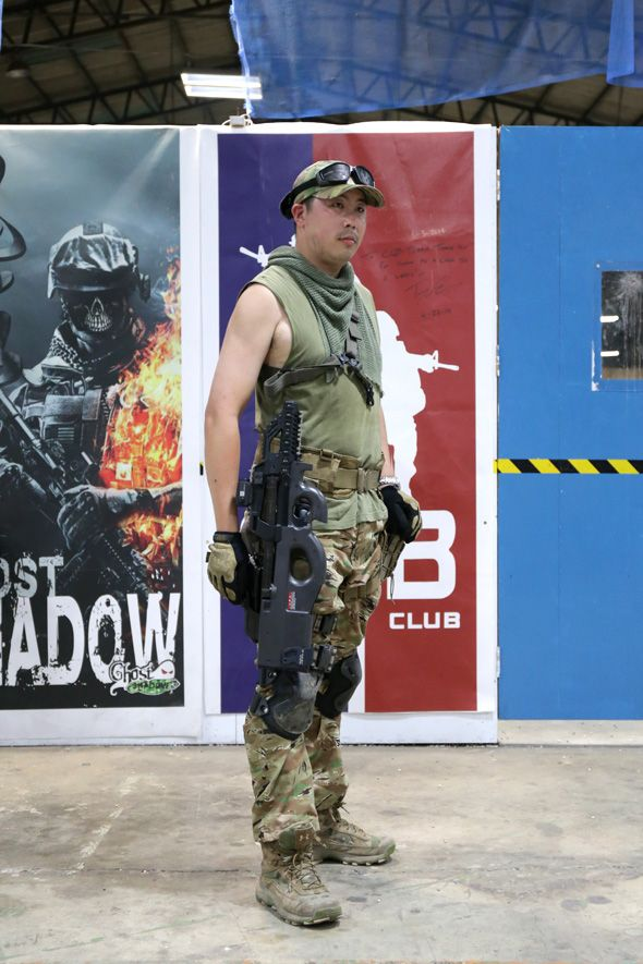 Souvent Airsoft player in Japan. Fashion Photo. TRU-SPEC All Terrain Tiger  UO94