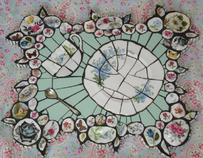 Upcycling Dinner Plates And Old China Mosaic Crafts Mosaic
