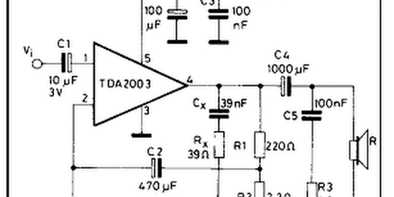 tda2003 made for car amplifier circuit hubby project pinterest rh pinterest com