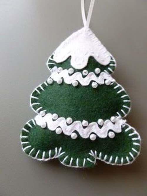 9a5c5963aa397 Moldes para hacer arbolitos de navidad en fieltro