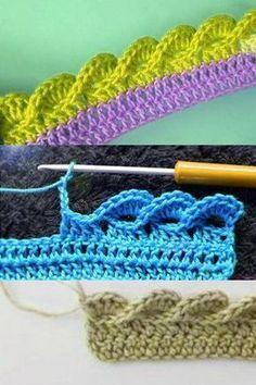3D wave crochet edging #crochetstitchespatterns