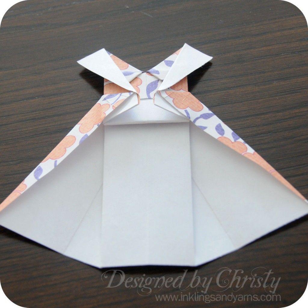 Origami Paperista Origami Ja origami Dress 24Koristeita L5R3A4j
