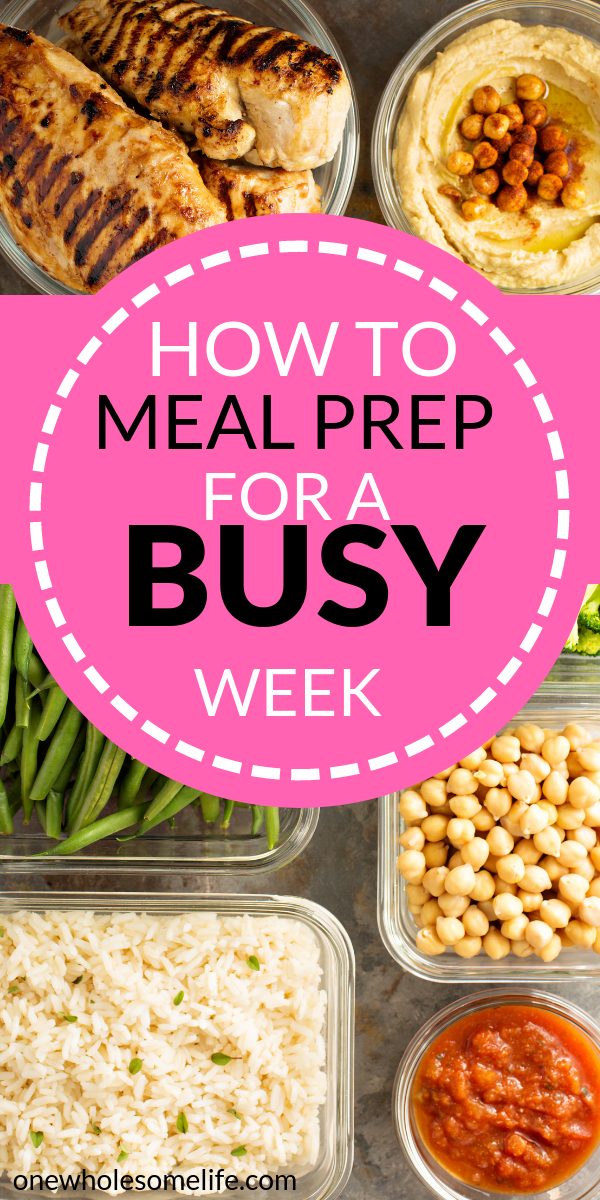 How To Meal Prep For A Busy Week images