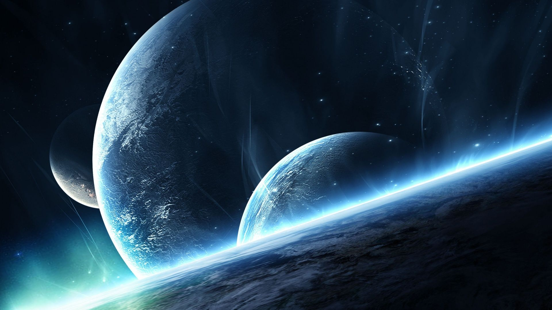 Multiple Planets Computer Background Scifi Hd Wallpapers Wallpaper Space Hd Space Planets Wallpaper