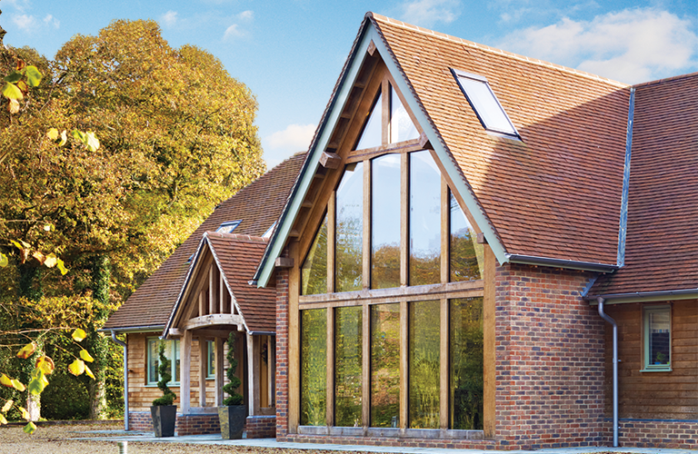 Oak frame home full of character thanks to framewise and for Exterior design specialists