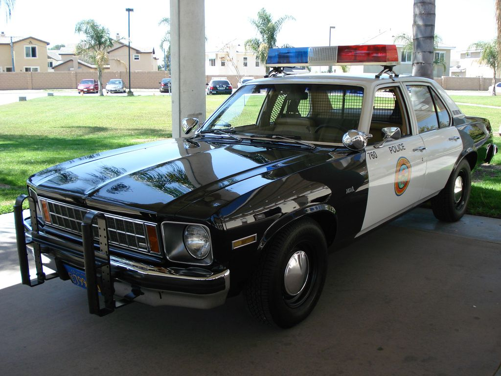 1976 Blue Novas 1976 Chevy Nova Police Car A Photo On Flickriver With Images Police Cars Old Police Cars Ford Police