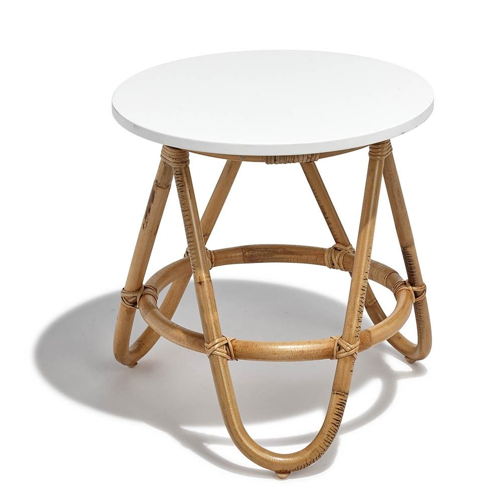 Bout De Canape Inaya En Rotin Blanc Table Basse Et D Appoint Salon Meuble Gifi Bout De Canape Meuble Gifi Table Basse