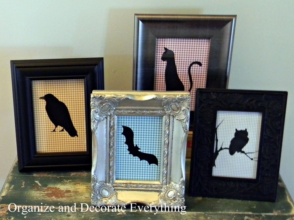 Halloween silhouettes by Organize & Decorate Everything ...
