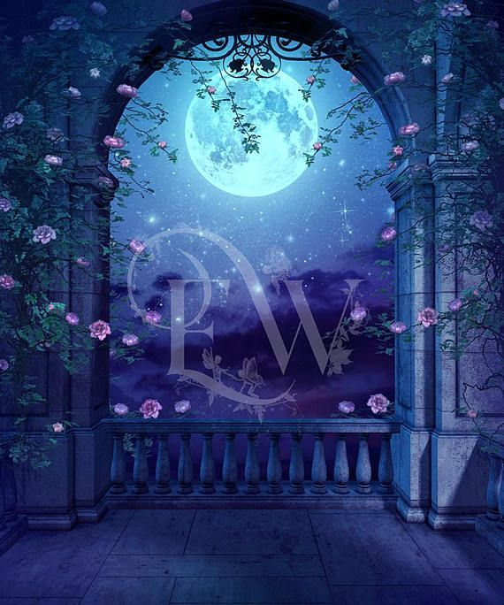 Pin By Dominique On My Saves In 2021 Fantasy Background Castle Background Romantic Background Anime castle garden background night