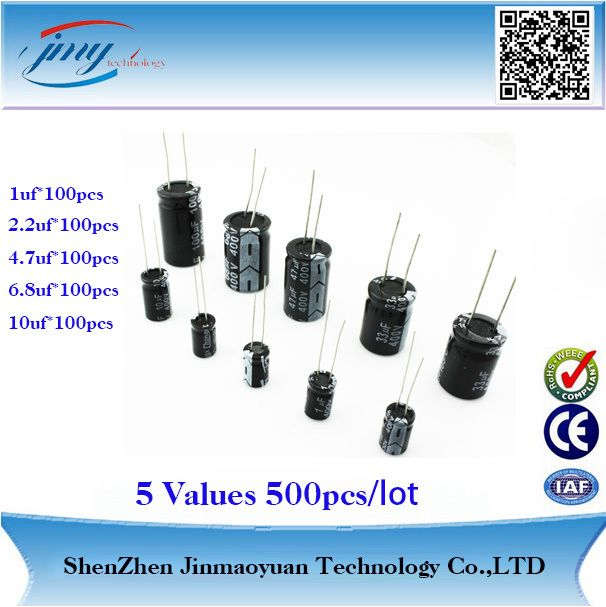Aliexpress Com Buy Wholesale Price Aluminum Electrolytic Capacitor 500pcs Pack 5values 400v Series Free Shipping F Capacitor Electrolytic Capacitor Shenzhen