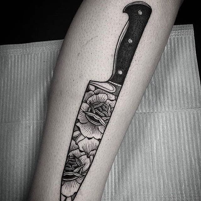 Knife Tattoo By Nate Silverii Knife Knifeblade Blade Abstract Kniferose Rose Natesilverii Karambitknives Knife Tattoo Culinary Tattoos Tattoos