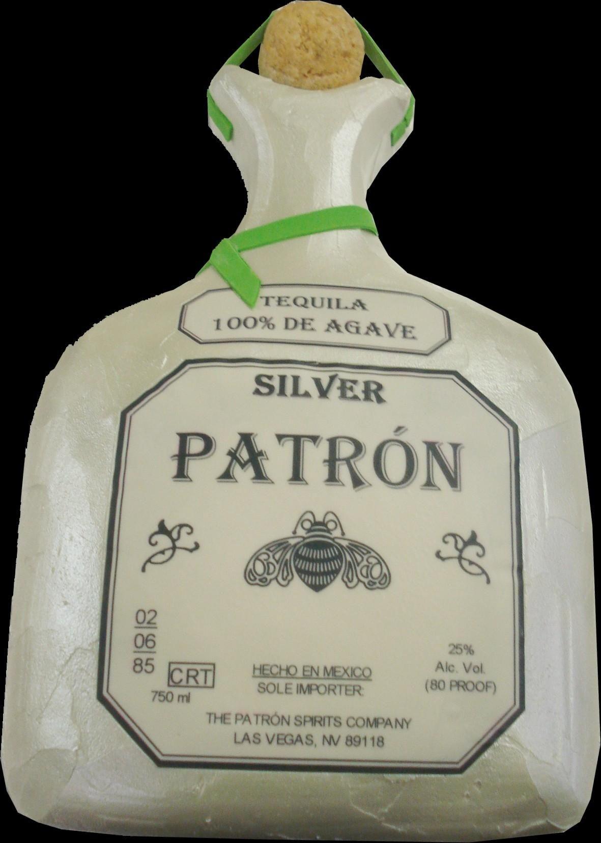 Patron Pearl Bottle Birthday Cake White Buttercream Iced Shaped - Patron birthday cake