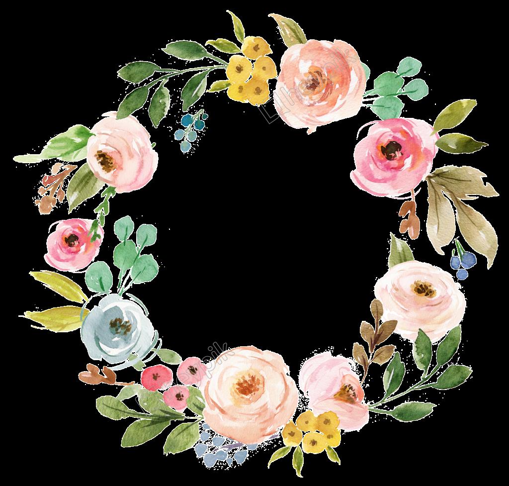 23 Corona de flores vector