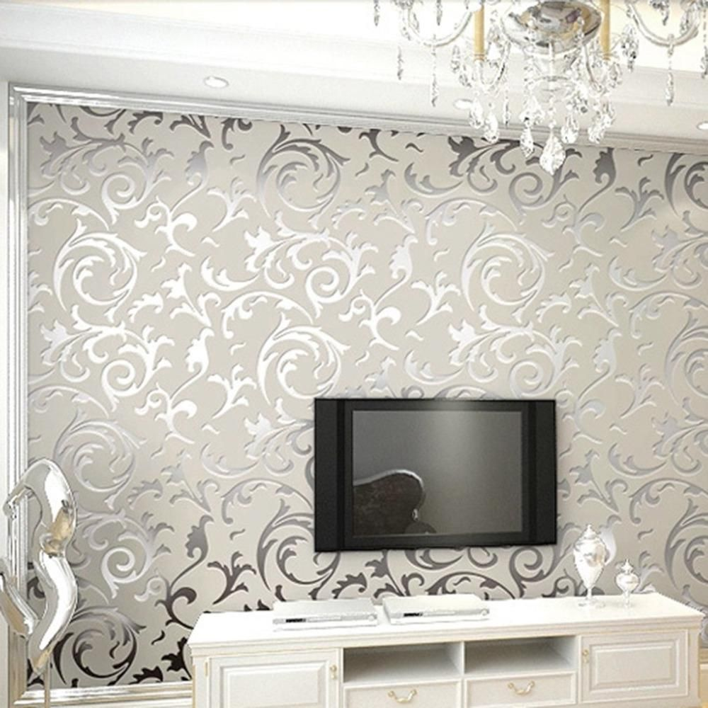 Simple European Style Luxury Embossed Non Woven 3d Wallpaper