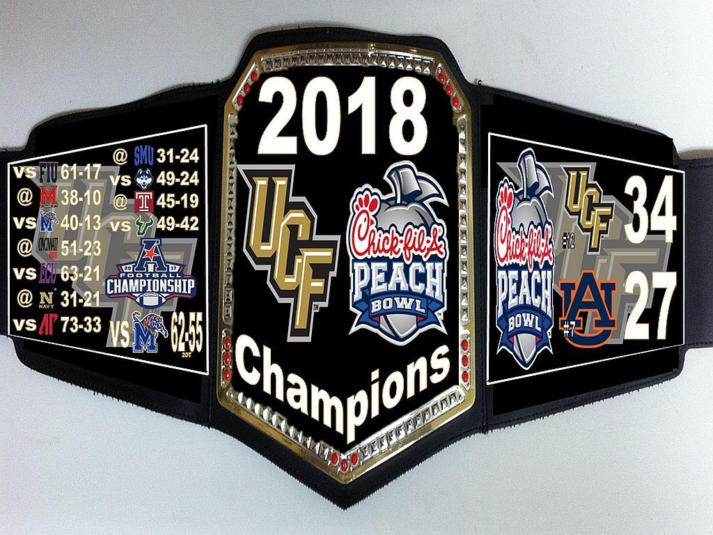 2018 ufc knights peach bowl championship sports team belt