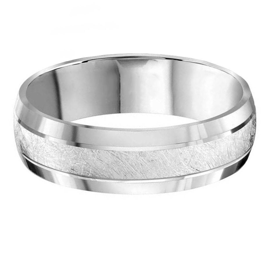 Brush Center 6mm Wedding Ring Steven Singer Jewelers