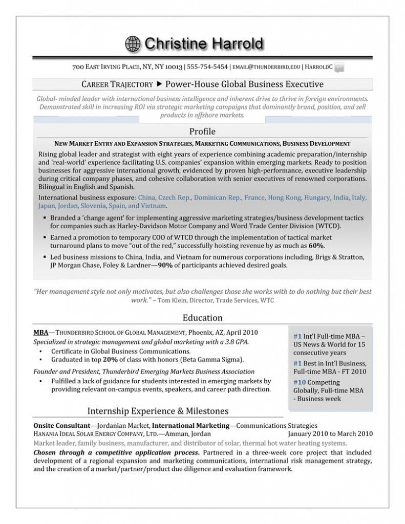 Mba Grad Resume Authentic Resume Branding Resume Cover Letter