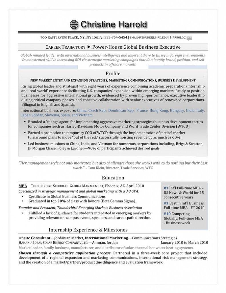 Mba Grad Resume  Authentic Resume Branding  Resume  Cover
