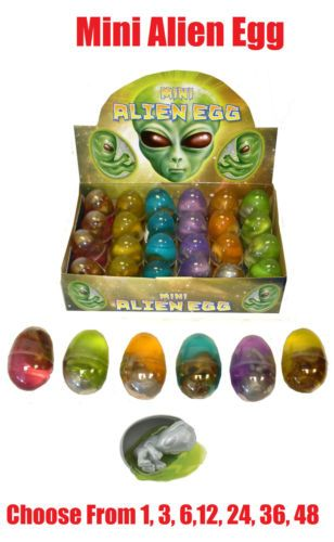 24 x BABY ALIEN EGG Embryo Goo Birthpod Party Goodie Loot Bag Filler Favour Toys