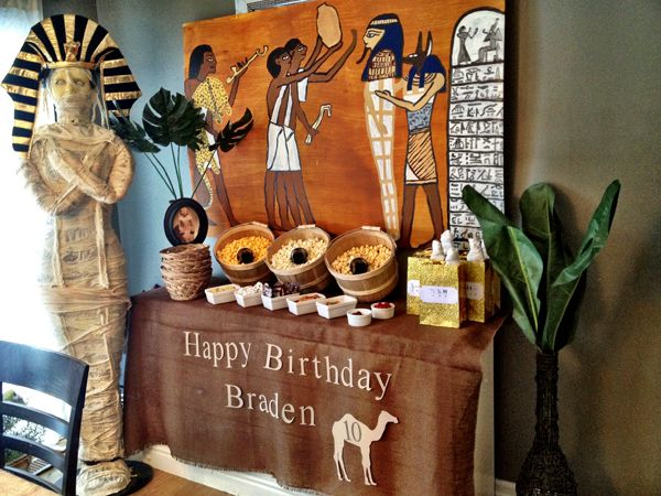Egyptian party on pinterest egyptian themed party for Ancient egypt decoration