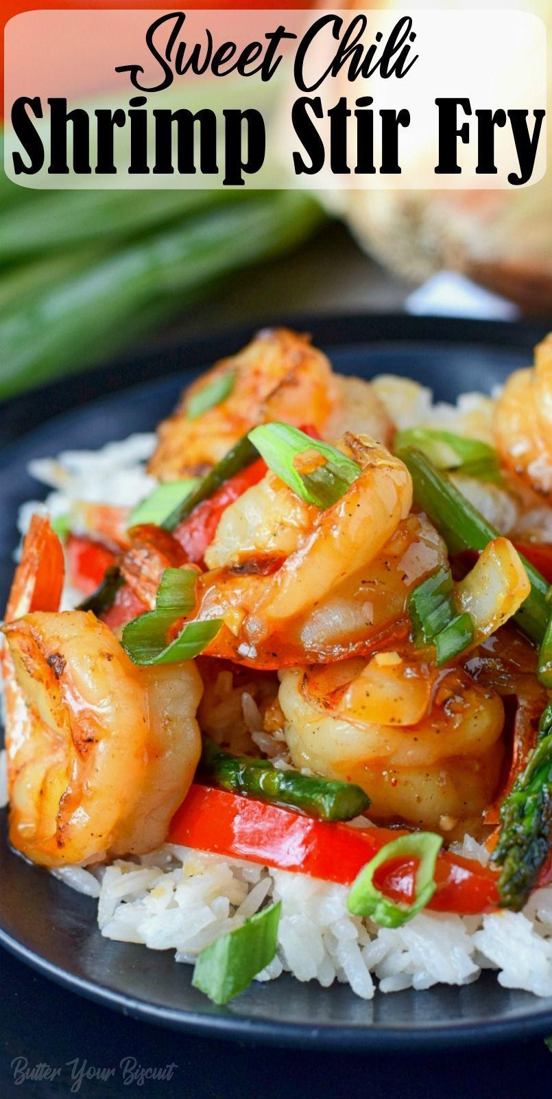 Sweet Chili Shrimp Stir Fry