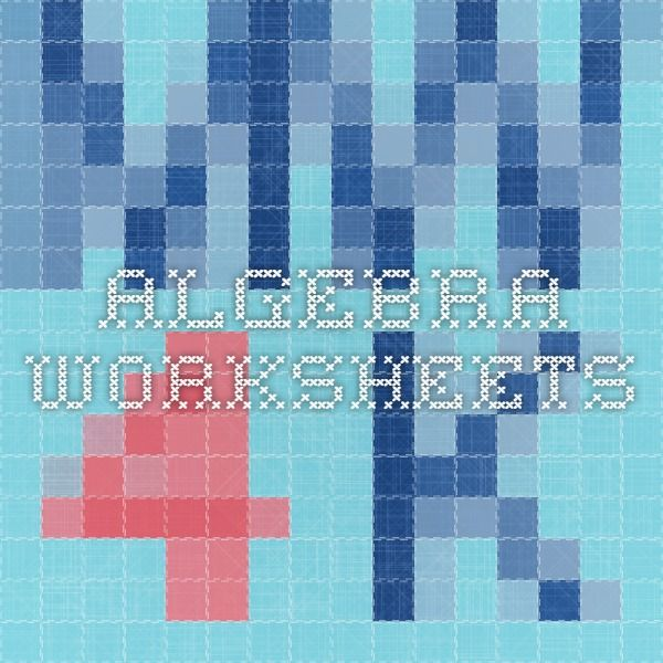 algebra worksheets | Matemáticas 8 | Pinterest