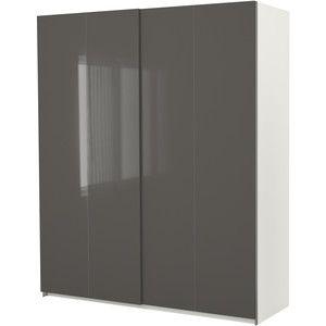 Ikea Pax Wardrobe With Sliding Doors White Hasvik High