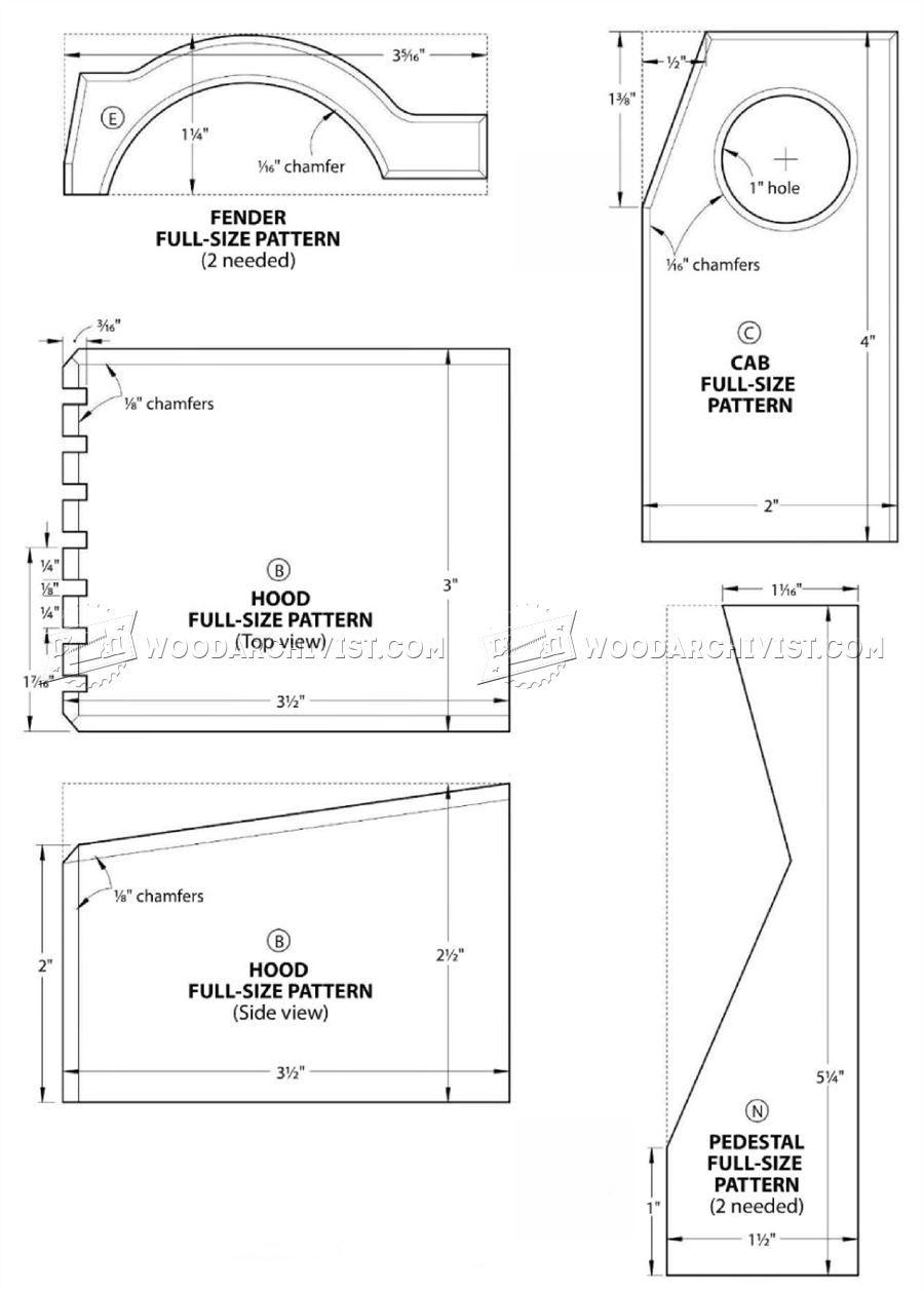 517 wooden concrete truck plans - wooden toy plans | wooden