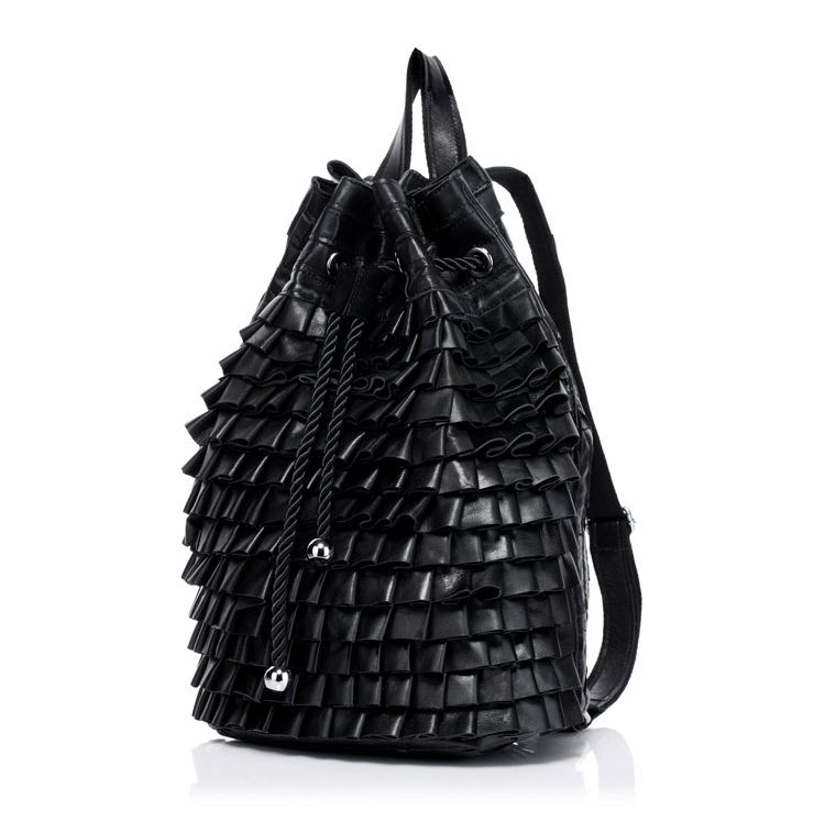 50% Off on this unique genuine leather ruffle style backpack while supply last. Don't miss this rare opportunity to get a great deal. Visit www.youngvillagers.com now.