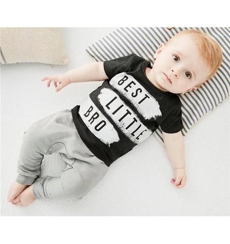0de031242e88 2018 summer style baby boy clothes short sleeve T shirt +pants 2pcs ...