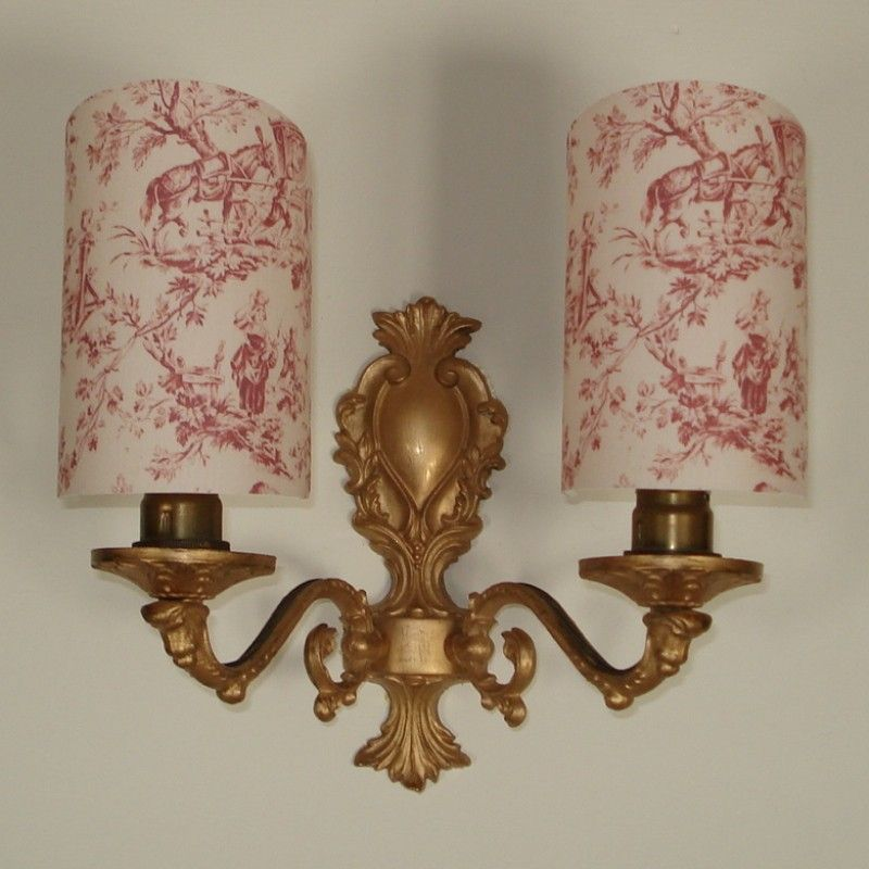 People Sometimes Ask Me For These Half Lamp Shades And They Are Hard To Find French Country Scenes Handmade Candle Clip Shield Shade Wall