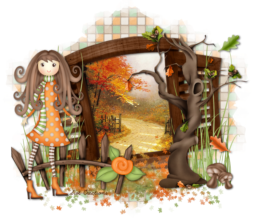 AutumnWishes Tutorial, Fall pictures, Orange mirror